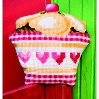 Подушка для вышивания vervaco пирожное