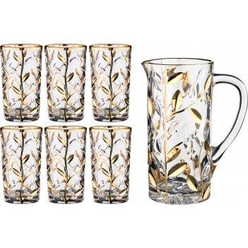 Набор для воды лаурус 7 пр.: кувшин+6 стаканов 1...