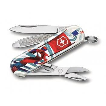 Нож-брелок victorinox classic ski race, 58 мм, 7 функций