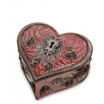 Ws-1126 шкатулка «сердце и ключ» (vincent hie)
