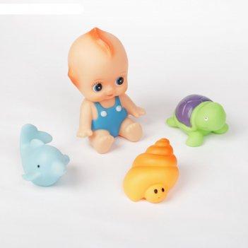 Набор игрушек для ванны «друзья», 4 шт.