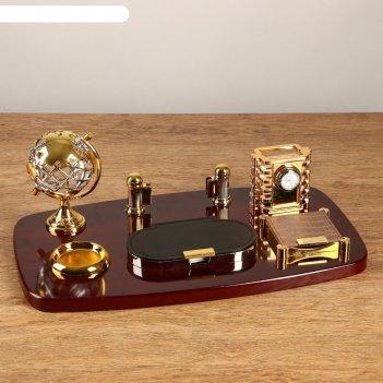 Набор настольный 7в1 (2 блока д/бум, подст. д/печати, карандашница, часы,