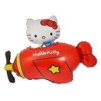 Шар фольга 36 hello kitty самолет красный фм