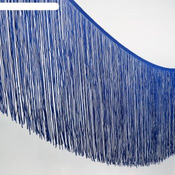 Тесьма декоративная бахрома, ширина 30см, 5м, цвет синий