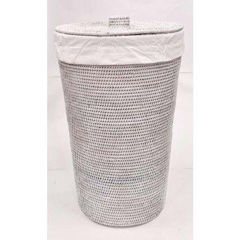 Корзина для белья с тканевым вложением