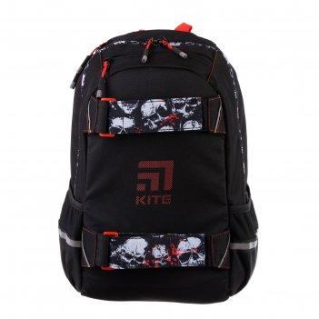 Рюкзак молодежный kite 1008, 45 х 32.5 х 15, education, чёрный/красный