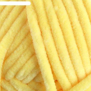 Пряжа dolce 100% микрополиэстер 120м/100гр (761 жёлтый)