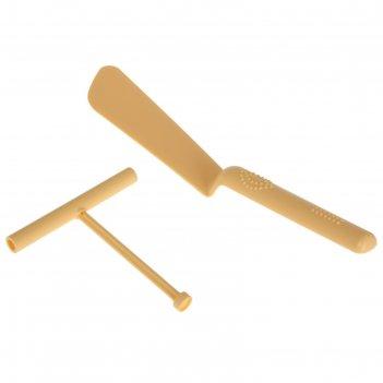 Набор кулинарный 2 предмета: лопатка для блинов 32 см, распределитель тест