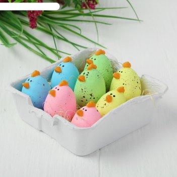 Яйца для декорирования «курочки», набор 8 шт, размер 1 шт: 3x2,5 см