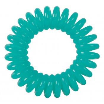 Резинки для волос dewal beauty пружинка, цвет св. зеленый (3 ш