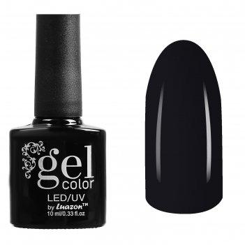 Гель-лак для ногтей трёхфазный led/uv, 10мл, цвет в2-057 черный