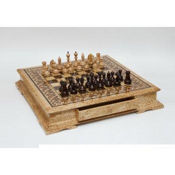 200102 шахматы большие из карельской березы
