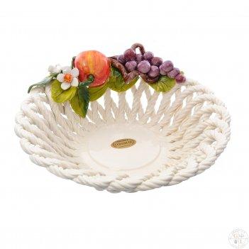 Корзина круглая orgia фрукты 27 см