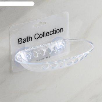 Мыльница на присосках 15x10x2 см bath collection, цвет микс