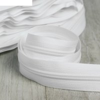 Молния рулонная, спираль, №7, 100м, цвет белый