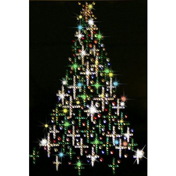 Картина сваровски - елка