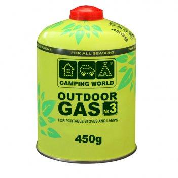 381865 баллон газовый camping world outdoor (резьбовой,клапанный, 450г)