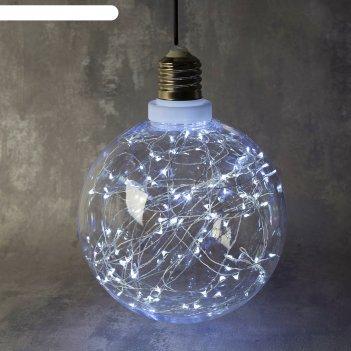 Фигура лампочка 20 см, 100 led-12v, адаптер в комплекте, белый