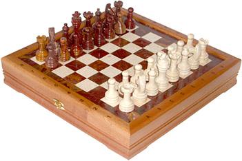Шахматы из камня малые 34х34см