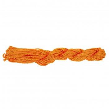 Нить для плетения, 12м, цвет № 105 светло-оранжевый