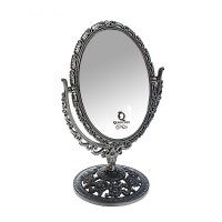 Зеркало настольное сюприз, овальное, двухстороннее, с увеличением, цвет ан