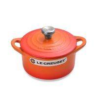 Кокот , объем: 0,3 л, диаметр: 10 см, материал: чугун, цвет: оранжевый, le