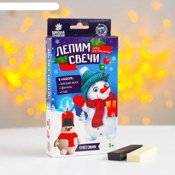Набор для творчества лепим свечи снеговик