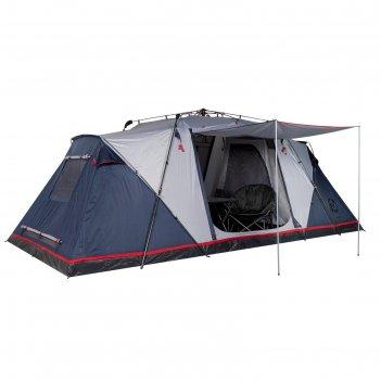 Палатка кемпинговая «sirius 6», синий/серый