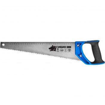Ножовка по дереву сибин 15055-40, 400мм, шаг 5tpi (4,5мм), алмазная заточк