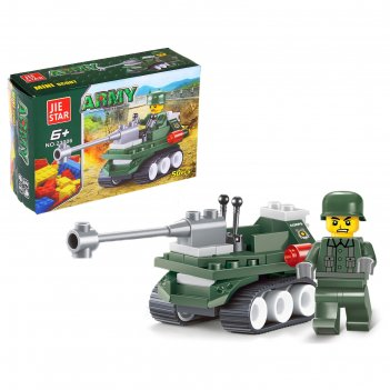 Конструктор армия мини танк, 50 деталей