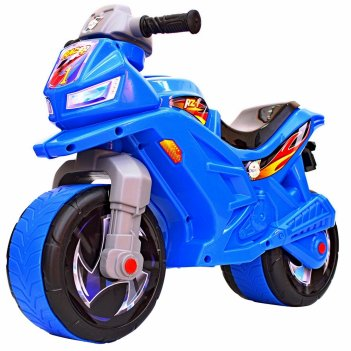 Ор501в6 каталка-мотоцикл беговел racer rz 1, цвет синий