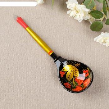 Ложка-ручка хохлома. премиум, высшая категория