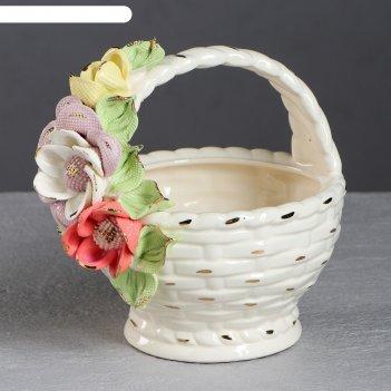 Ваза для конфет корзинка№1 15 см