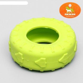 Игрушка жевательная для собак шина 9 см, микс цветов