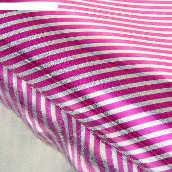 Бумага голографическая полоска, цвет розовый