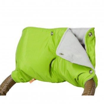 Муфта для рук на коляску флисовая (кнопки), цвет зелёный мкф04-000