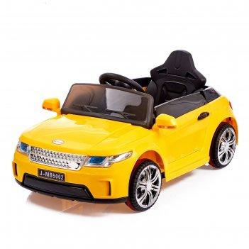 Электромобиль эвог, 2 мотора, радиоуправление, fm, usb, цвет желтый
