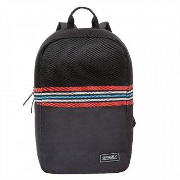 Рюкзак молодежный grizzly rq-010 43*27*15 чёрный