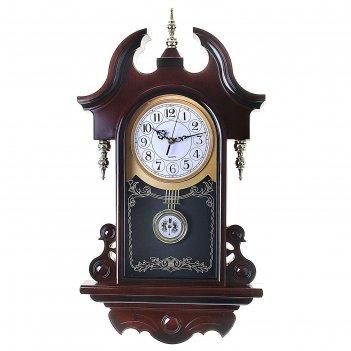 Часы настенные, серия: маятник, каролина, 35.5х61 см