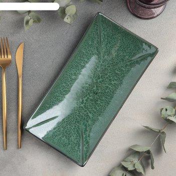 Блюдо для суши 27,5x14 см, h 4 см verde notte
