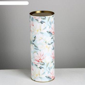 Тубус под бутылку be always blooming,  10 х 34  см