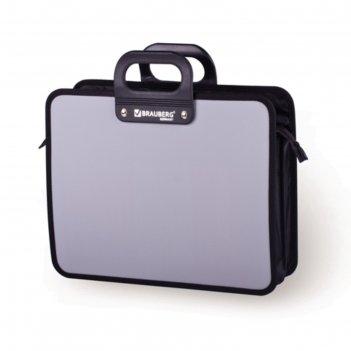 Портфель пластиковый а4 премьер, 390х315х120мм, 3 отделения, на молнии, се
