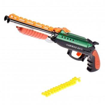 Двустволка пневматическая, стреляет силиконовыми пулями, цвета микс