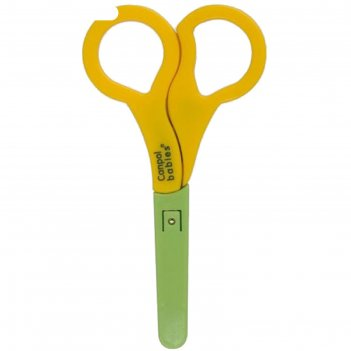 Ножницы детские безопасные в чехле, от 0 мес., цвет микс