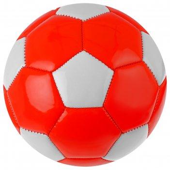 Мяч футбольный, размер 2, машинная сшивка, 2 подслоя, pvc, цвета микс