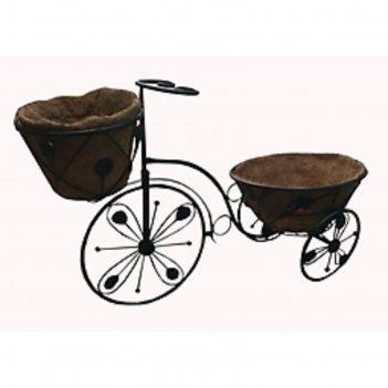 Кашпо из коковиты велосипед 71*31*46см