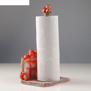 Подставка для бумажного полотенца корзинка с яблоками 26х17х17см