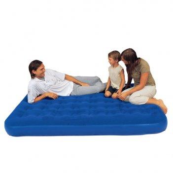Надувная двуспальная кровать flocked air bed queen (королевская)