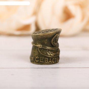 Наперсток сувенирный «севастополь» латунь, 2,2 х 2,3 см
