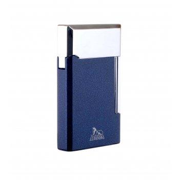 Зажигалка трубочная lubinski сполето, кремневая, синий металлик